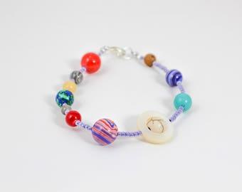 Planet Bracelet, Solar System Bracelet, Galaxy Bracelet, Science Jewelry, Cosmic Jewelry, Zodiac Jewelry, Constellation Jewelry, Astrology