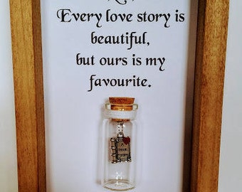 Romantic gifts, Wife, Gift for wife, Christmas gifts for wife, Wife gift, Personalised wife gift, Gift for her. Favourite love story.