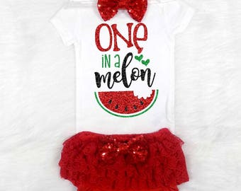 watermelon first birthday outfit girls first birthday outfit summer first birthday outfit melon first birthday outfit red and green birthday
