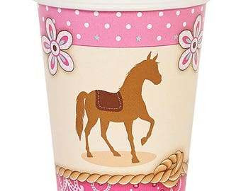 Sweet Pink Cowgirl Party cups / cowgirl theme / cowgirl party/ western girl party / cowgirl party cups