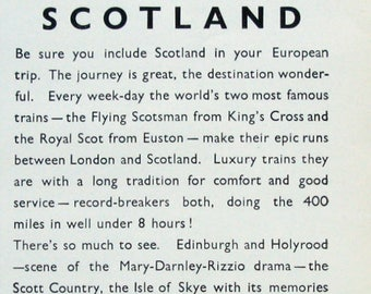 1933 Scotland Train Advertising - Bonnie Prince Charlie - London Midland & Scottish Railway of Great Britain Ad - LMS LNER Train Ad