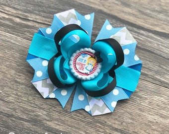 Alice In Wonderland Hair Bow - Alice In Wonderland Hair Clip - Disney Hair Bows - Alice Hair Bow - Disney Bows - Blue Hairbow