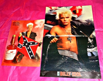Billy Idol Centrefold And A4 Poster Posters Music Memorabilia Smash Hits Magazine Vintage Pop Rock Legend Generation X Michael Albert Broad