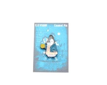 Elevguin Stranger Guins soft enamel pin. 2.5cm pin badge.
