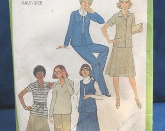 Vintage Simplicity Pattern 8411 - Misses Wardrobe - Sizes 14-1/2 and 16-1/2 - 1977