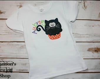 Halloween Shirt, Cute Halloween Shirt, Halloween Kitty Shirt