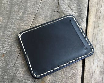 Minimal wallet Front pocket wallet Minimalist wallet Kangaroo leather wallet Personalized wallet Groomsman gifts Black leather wallet