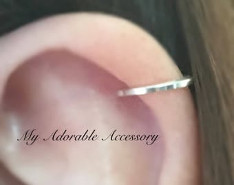 Square Wire Ear Cuff, Fake Piercing,   Cartilage Ear Cuff, Ear Cuff
