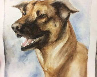CUSTOM Pet Portrait (Whimsical Watercolor Style)