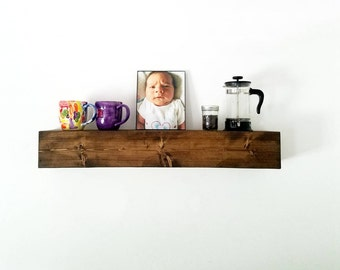 Floating Shelves | Floating Shelf | Rustic wood Shelves | Farmhouse Decor | Wooden Shelves Floating