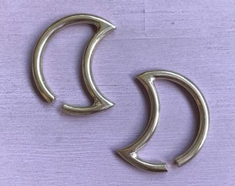 Luna Ear Weights - Solid Brass - Ear Hangers for Stretched Lobes