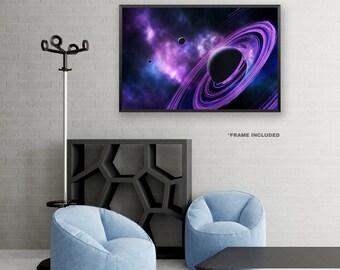 Framed Purple Space Poster Art, Framed Universe Art Poster