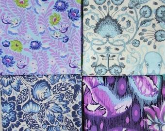 Fat Quarter Bundle - Tula Pink, Purple and Blue for Free Spirit