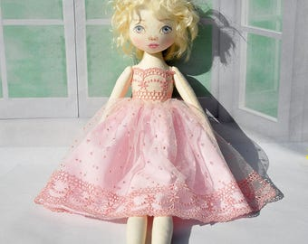 Textile doll decorative doll collectible dolls  cotton rag doll