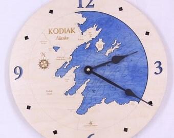 "Kodiak, Alaska  12"" Clock"