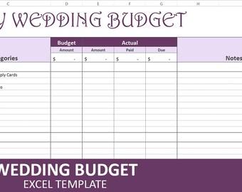 Wedding budget etsy easy wedding budget purple wedding budget planner excel wedding budget wedding expenses tracker junglespirit Choice Image