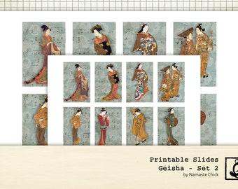 Geisha Printable Slides, Set 2