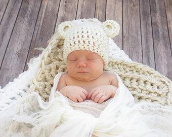Bear Crochet Hat, Infant Bear Hat, Child Bear Hat, Adult Bear Hat, Animal Crochet Hat, Baby Bear Hat, Teddy Bear Hat, Newborn Hat