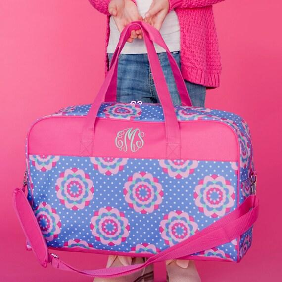 Childrens Duffle Bag Monogrammed Kids Overnight Bag Personalized Carryon Bag Girls Duffel Bag Monogrammed Gifts for Girls Highway12Designs