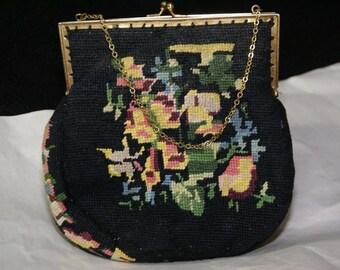 Jolles Original Petite Point Bag.  VTG Collectible!