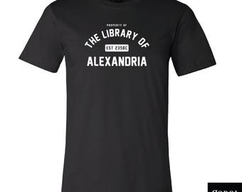 Property of The Library of Alexandria - Unisex | Men's T-Shirt - American Made