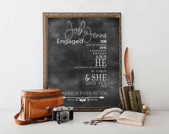 Personalized Engagement gift Engagement gifts for couples Gifts for couples Engagement Present - Printable File only