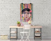 Resilience, 18x24, Original Abstract Painting, Feminist Art, Acrylic Painting, Wall Art, Original Art, Frida Kahlo, Feminist, Modern Art