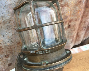Antique Brass R& S Oceanic Explosion Light