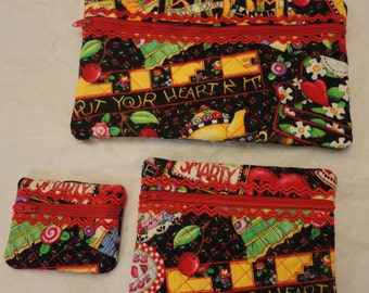 Mary Engelbriet cosmetic bags set of 3