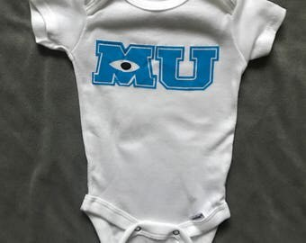 Monsters University Onesies, Baby Onesie, Disney Onesie