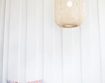Basket lighting etsy bamboo pendant light handmade wooden pendant lamp hanging repurposed fishing trap basket hanging aloadofball Gallery