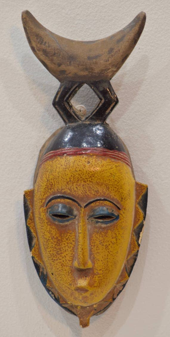 African Mask Baule Mali Wood Portrait African Wood Mask