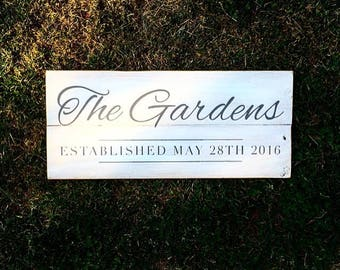 Custom Last Name Sign | Established Sign | Family Sign | Custom Family Sign