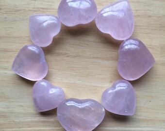 Rose Quartz Crystal Carved Heart