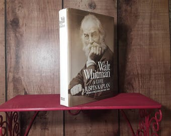 WALT WHITMAN A Life, Hardcover Biography Book, 1980, With Dustjacket, Justin Kaplan, Leaves Of Grass Author, Poetry Book