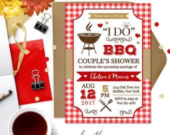 DIGITAL // I DO BBQ Couple's Shower Invitation Design // Choose colors Printable // #3002015B