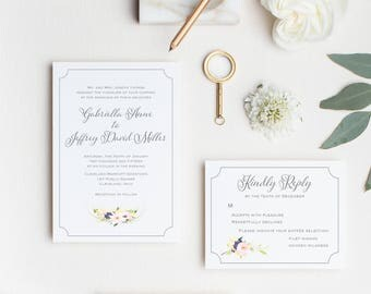 Garden Wedding Invitation Suite, Garden Wedding