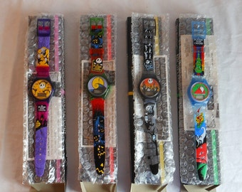 Burger King Tim Burtons Nightmare Before Christmas Complete Set of Four Watches. Nightmare Before Christmas Watches.
