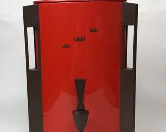 60s  Red Regal Coffee Maker Vintage sixties 60s 1960s  Server plastic coffeemaker coffee machine party restaurant percolator