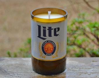 Miller Lite Beer Bottle Candle