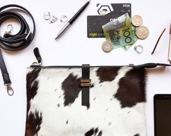 Maxi Pouch - Cowhide - Chocolate Brown