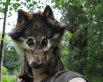 Real wolf mask -  has CITES!