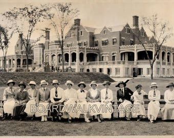 "1913 Vintage Photo Panoramic  26 1/2"" Long Reprint Women's Metropolitan Golf Championship Nassau Country Club Long Island New York"