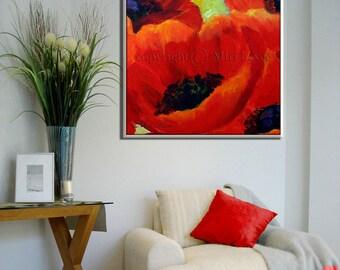 Floral Wall Art, Original Artwork Painting on Canvas, Oil Painting Canvas Artwork, Original Oil Floral Painting, Wall Art Flower Painting