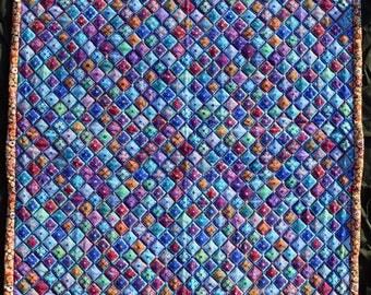 Diagonal Flowers quilt