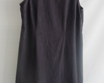 Juan Taylor Charcoal Gray Dress w/ruffled neckline, Size 16