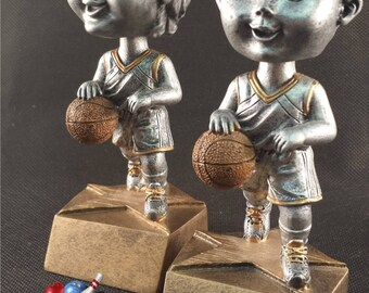 Basketball Bobble Head Awards - Free Engraving - Basketball Trophy - Available for Males and Females - Kids Trophy - Participation Award