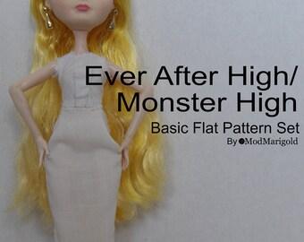 Ever After/Monster High Basic Pattern Set