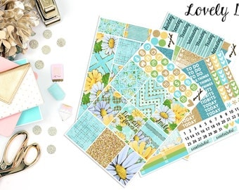 Lovely Day | Fits Erin Condren - Vertical | Planner Stickers