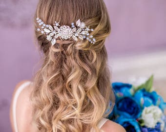 Bridal hair comb Crystal hair comb Wedding hairpiece Flower hair comb Wedding hair comb Bridal headpiece Bridal comb hairpiece silver comb